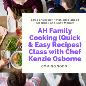 Family Cooking Class Website